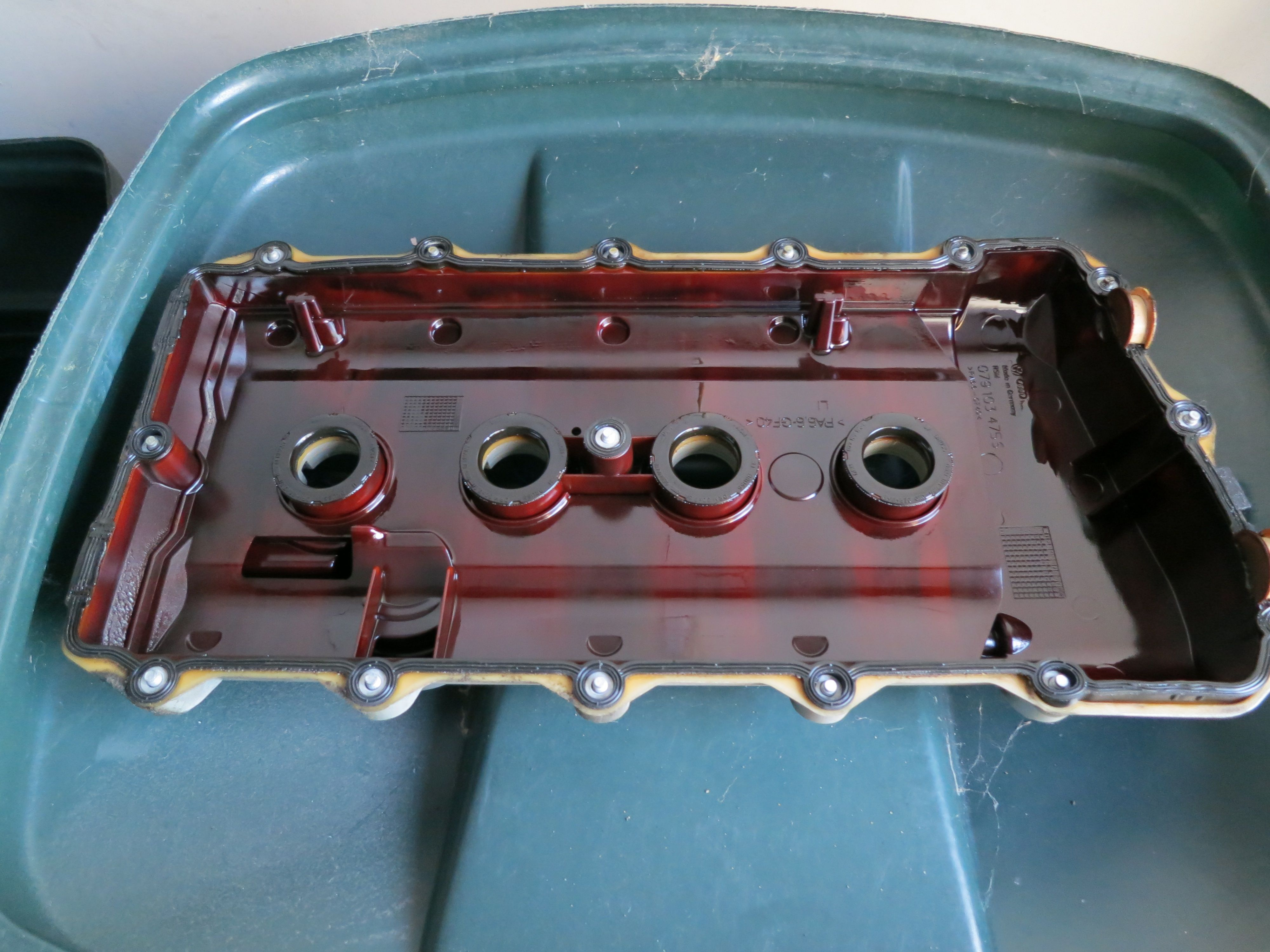 B6 s4 valve cover breather seals audiworld forums here is what one of the valve covers looked like drivers side picture taken before replacing the rubber bits sciox Choice Image
